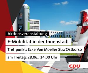 """Aktionsveranstaltung zum Thema """"E-Mobilität in der Innenstadt"""""""